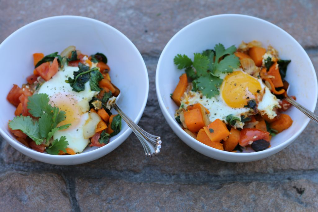 Veggie Hash with Eggs Over Easy from BeingBrigid